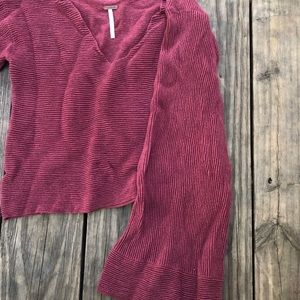 cropped FREE PEOPLE flare sweater!!